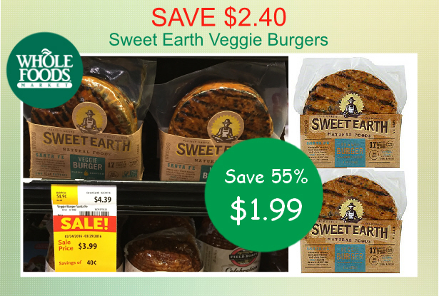Sweet Earth Veggie Burgers coupon deal