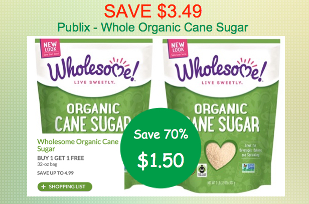 Wholesome Organic Cane Sugar Coupon Deal
