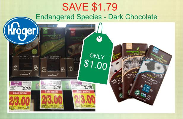 Endangered Species Natural Dark Chocolate coupon deal