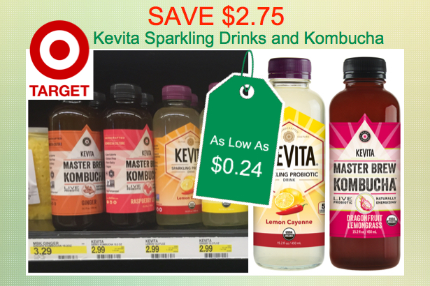Kevita Sparking Drinks or Kombucha Coupon Deal