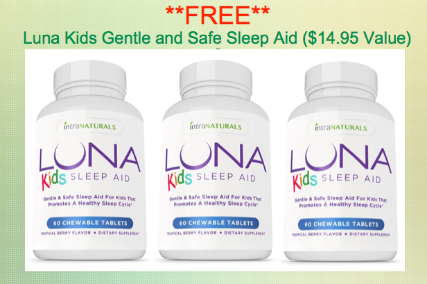 Free Bottle of LUNA Kids Gentle & Safe Sleep Aid