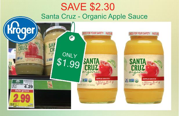 Santa Cruz Organic Apple Sauce coupon deal