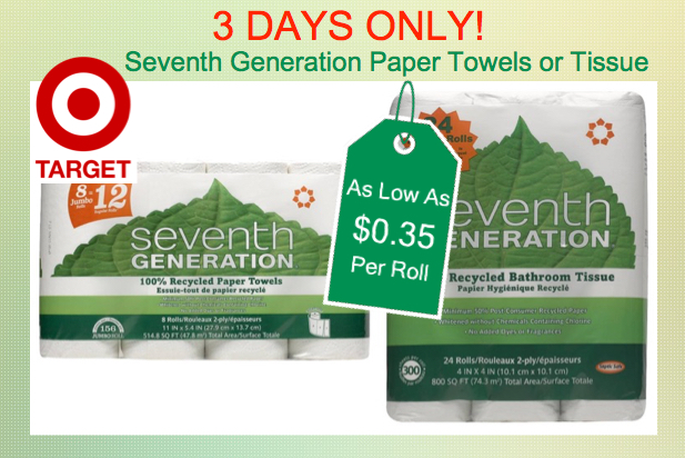 Seventh Generation Paper Towels or Bath Tissue Coupon Deal