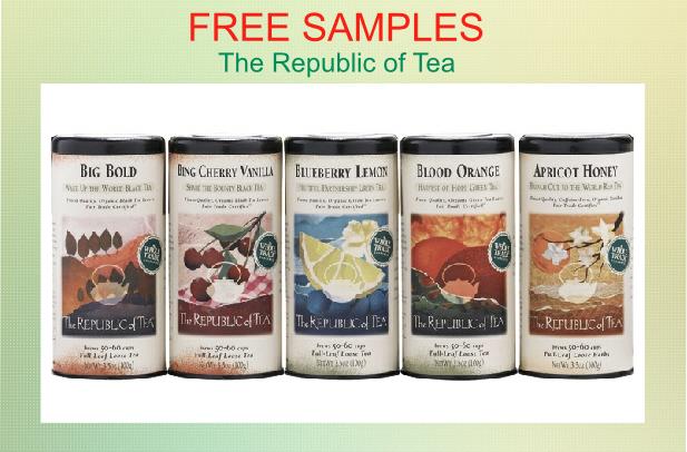 FREE SAMPLES of The Republic of Tea!