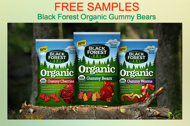 FREE SAMPLES of Black Forest Organic Gummy Bears!