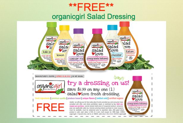 organicgirl salad dressing coupon deal