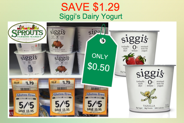 siggi's dairy yogurt coupon deal