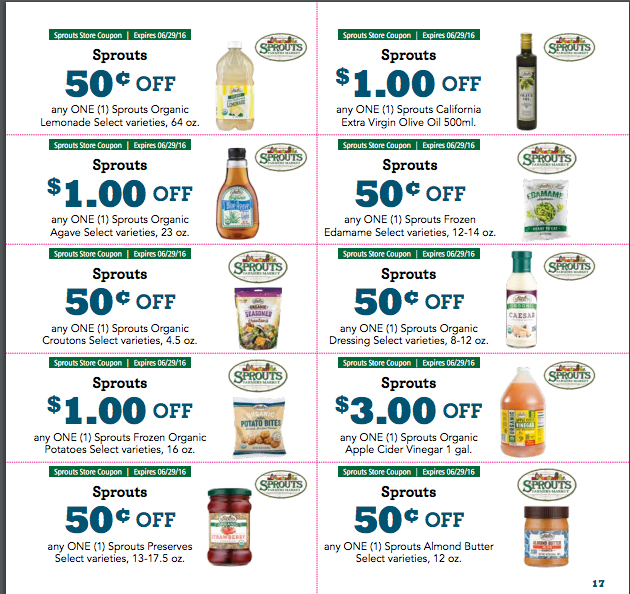 NEW Sprouts Coupons for May Monthly Flyer